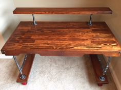 Steam punk desk my husband made out of pallets.