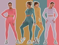 Wholesale Yoga Leggings Set Women's Workout Set 3 Piece Tracksuit Sweat Workout, Workout Wear, Custom Sportswear, Yoga Leggings, Daily Wear, 3 Piece, Fit Women, Things To Sell, How To Wear