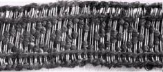 brocaded tablet weaving recovered from Birka taken from Agnes Geijer's Birka III Tablet Weaving Patterns, Norse Vikings, Braids With Weave, Viking Age, Dark Ages, Archaeology, City Photo, Medieval, Persona