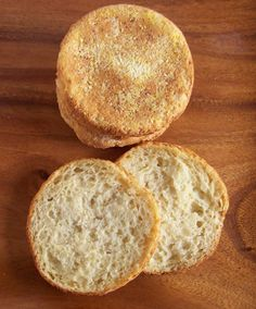 Made these gluten free English muffins this morning with a few substitutions because I didn't have sorghum flour. Turned out great though!