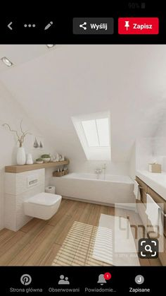 Modern Small Bathrooms, Bathroom Design Small, Bathroom Interior Design, Bedroom With Bath, Home Decor Bedroom, Loft Conversion Bedroom, Loft Bathroom, Loft Room, Aesthetic Bedroom