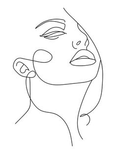 Abstract Face Art, Abstract Lines, Abstract Drawings, Art Abstrait Ligne, Art Minimaliste, Face Line Drawing, Girl Face Drawing, Drawing Art, Art Visage