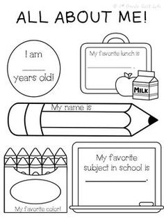 ALL ABOUT ME! FREEBIE! - TeachersPayTeachers.com