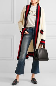 Gucci - I love this whole outfit but I would just switch out the jeans to skinny jeans instead.