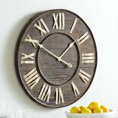 Distressed European Wall Clock | Wall Art $59