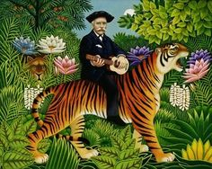 Painted during the last months of Rousseau's life, it shows one of his signature exotic landscapes, lush, tropical and virgin. Description from pinterest.com. I searched for this on bing.com/images