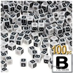 make a name just needed using less than 20 pcs alphabet letter beads 6 mm cube