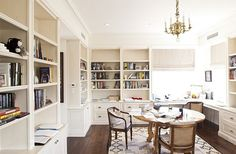 library or office - love the built ins and all the light!