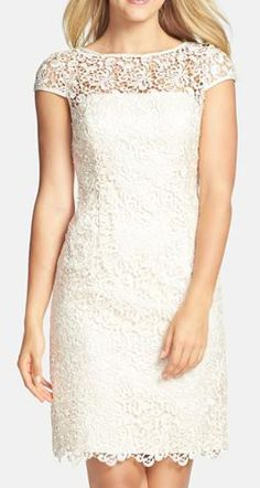 Nordstrom  Adrianna Papell Lace Shift Dress