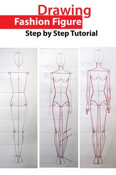 Advanced method for drawing fashion figure. All you need to know about fashion figure poroportions.