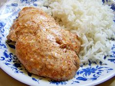 Recepty z Indie: Kuracie v jogurtovej marinade - pecene Baked Potato, Rice, Potatoes, Chicken, Meat, Baking, Ethnic Recipes, Indie, Potato