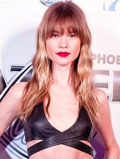 What Do You Think of Behati Prinsloo's New Bangs? - the edgy-cool cut would become the it-look of the year, and Prinsloo's style has all the makings of the perfect swag: long, textured layers with a curtain of shaggy peek-a-boo bangs. Behati Prinsloo's New Bangs via byrdiebeauty