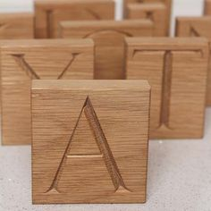 wood block letters hand carved available made to order