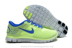 5794ccf819ae Cheap Nike Free US Size for Sale Womens Nike Free Fluorescence Green Royal  Blue Running Shoes  nike free for sale -