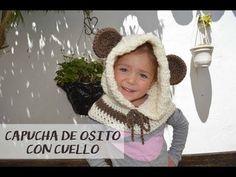 Cuello con Capucha de Osito a Crochet - TODAS LAS TALLAS (English  Subtitles) - 38efcb0ec762