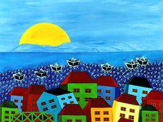 """Κορνήλιος: """"Τον εαυτό μου παιδί από το χέρι κρατάω… να ονειρευτεί, να οραματιστεί, να ζωγραφίσει."""" Sea, Outdoor Decor, Painting, Home Decor, Decoration Home, Room Decor, Painting Art, The Ocean, Paintings"""