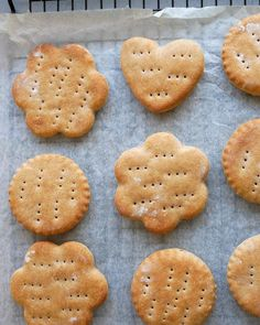 GROVE RUNDSTYKKER I LANGPANNE - Bakekona Rice Krispies, Spicy, Cookies, Desserts, Food, Crack Crackers, Tailgate Desserts, Deserts, Biscuits
