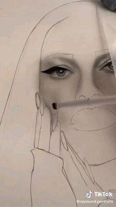 Art Drawings Sketches Simple, Pencil Art Drawings, Realistic Drawings, Portrait Drawing Tips, Watercolor Portrait Tutorial, Khol Eyeliner, Doodle Art Drawing, Realism Art, Art Tips