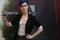 Lena Lewin cosplay #Bloody_Mary #the_wolf_among_us #bloody_mary_cosplay #cosplay #axe #blue_hair #twau #game #telltale_games #twau_cosplay #geek_girl #geek #antagonist #fable #bloody_mary_costume #кровавая_мэри