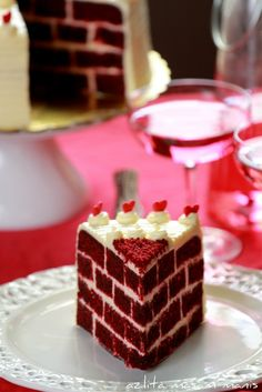 Red Velvet Checkered Cake | masam manis