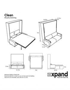 Our wall bed sofa at expand furniture is a great space saver. By combining your couch and your guest bed or personal bed, you add space to any room. Murphy Bed With Sofa, Modern Murphy Beds, Murphy Bed Plans, King Murphy Bed, Twin Wall Bed, Bed Wall, Expand Furniture, Dark Furniture, Furniture Removal