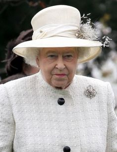 Queen Elizabeth, March 31, 2014. The Queen looks marvelous in white...one of my favorites