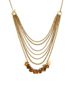 Gold Drop Multi layer Necklace