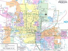 33 Best Maps Of Phoenix Images Phoenix Map Arizona Map