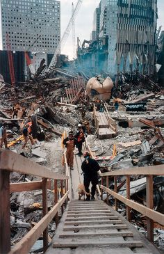 Joel Meyerowitz. 'Steps Down to Plaza' 2001