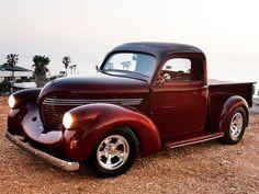 1938 Willys pickup - Not A Gasser - Custom Classic Trucks Magazine - Hot Rod Classic Pickup Trucks, Old Pickup Trucks, Hot Rod Trucks, Cool Trucks, Big Trucks, Hummer, Custom Trucks, Custom Cars, Panel Truck