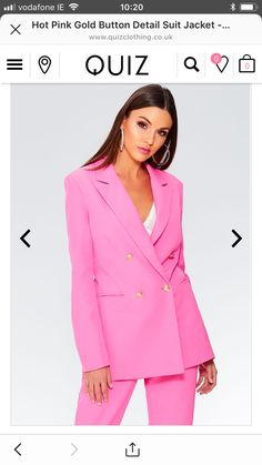 Pink suit by quiz clothing also comes in blue and red