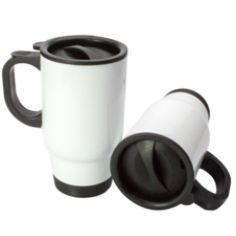 Stainless Steel Printed/Personalised Travel Mug - Promotional Merchandise Personalised Mugs, Stainless Steel Travel Mug, Tableware, Prints, Dinnerware, Dishes, Printmaking