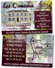 Creation De Carte Visite Pour La Propriete Les Ormeaux A Pons 17
