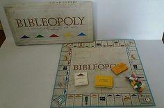 Bibleopoly biblical game of fun faith 1991 vintage board game church religion