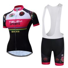 Teleyi Short Sleeve Women Bicycle Cycling Clothing Breathable Mtb Bike  Jersey Set Ropa Ciclismo  mtbjersey 8e4c6a785