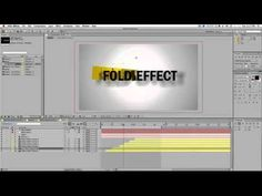 After Effects Tutorial - Fold Effect