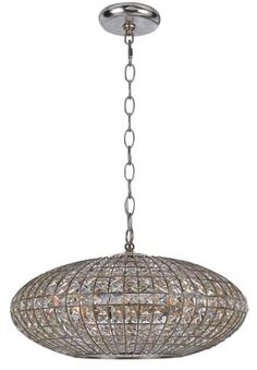 Crystorama Solstice 6 Light Crystal Sphere Chandelier