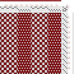 Hand Weaving Draft: 24279, 2500 Armature - Intreccio Per Tessuti Di Lana, Cotone, Rayon, Seta - Eugenio Poma, 4S, 4T - Handweaving.net Hand Weaving and Draft Archive Weaving Designs, Weaving Projects, Weaving Patterns, Knitting Patterns, Loom Weaving, Hand Weaving, Sampler Quilts, Weaving Textiles, Tear