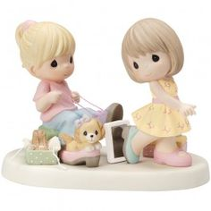 """Sole Sisters"" Bisque Porcelain Figurine - Precious Moments"