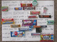 Fathers day card with candy, cute sayings | {gift ideas ...