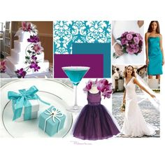 deep plum and tiffany blue wedding