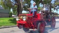 Пожарный автомобиль 1914 года на паровой тяге!