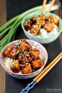 Honey Sesame Tofu is the perfect dinner for meatless monday or vegetarians. The tofu is amazingly sweet and delicious Healthy Dinner Ideas for Delicious Night & Get A Health Deep Sleep Best Tofu Recipes, Veggie Recipes, Asian Recipes, Whole Food Recipes, Cooking Recipes, Healthy Recipes, Tufu Recipes, Sauce Recipes, Chicken Recipes