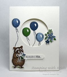 Alternate Monday Stampin' Up! Good Morning Magnolia Card - Stamping With Kristi Karten Diy, Fun Fold Cards, Stamping Up Cards, Get Well Cards, Animal Cards, Kids Cards, Baby Cards, Making Ideas, Your Cards