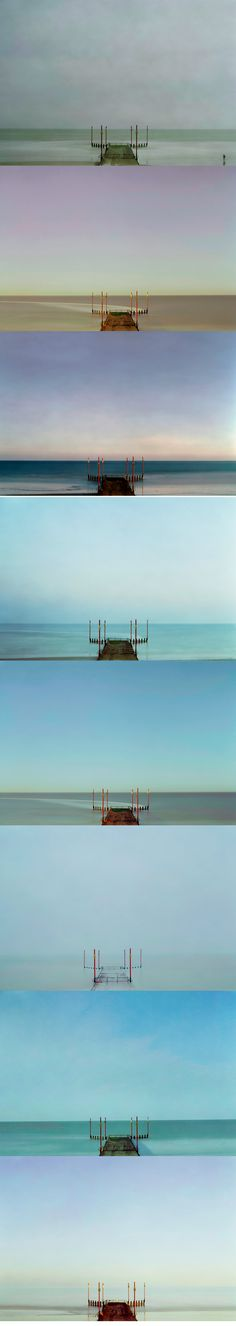 A selection of #photography from Tony Ellwood's In No Time series.     The images are created with a  5x4 camera, and captured over extended periods of time, using a series of multiple exposures, ranging from seconds to hours. Each picture is therefore an amalgam of realities, each layer blending with the other to form the final image.