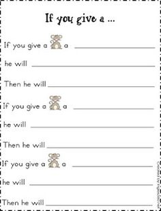 If You Give a Mouse a Cookie ..free ideas to stretch the story