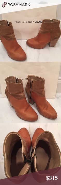 Rag & Bone boots Classic boots by rag and bone. In great condition. Only worn about 10 times. Very little to no wear on the soles. Suede and leather. Beautiful tan color. Size 40. rag & bone Shoes Ankle Boots & Booties