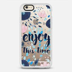 Enjoy this time - New Standard iPhone 6/6S #Protective Case in Clear and Clear by @zamperini #phonecase |@casetify