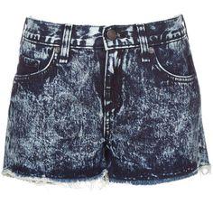 Rag & Bone Cut Off Shorts - Acid Wash ($99) ❤ liked on Polyvore featuring shorts, bottoms, pants, denim shorts, jeans, dark denim, cotton shorts, cutoff shorts, denim short shorts and denim cut-off shorts