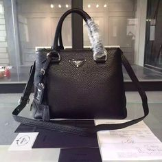 Prada on Pinterest | Calf Leather, Top Handle Bags and Shopping Bags